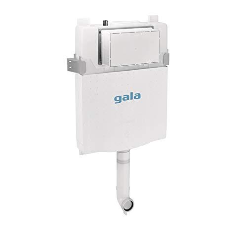 Bastidor para inodoro no suspendido, con cisterna compacta de doble descarga de 6 o 3 litros, 4,5 o 3 litros y 4 o 2 litros, 46 x 57,2 x 10 centímetros, color blanco (referencia: 5548200)