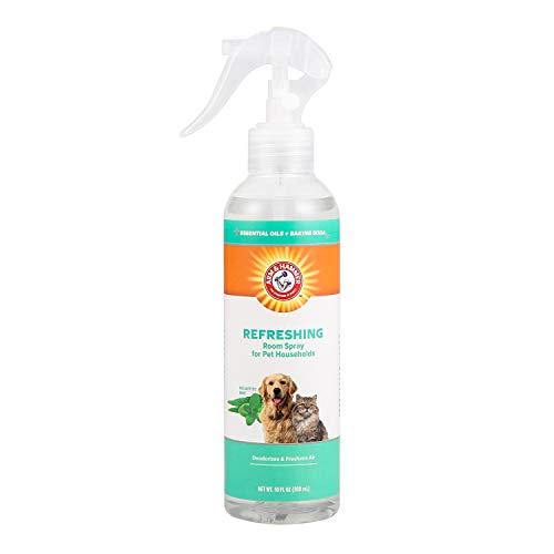 Arm & Hammer for Pets Air Care Refreshing Room Spray for Pet Odor Elimination | 10 oz Eucalyptus Mint Fragrance Air Freshener Spray | Pet Deodorizer Spray with Baking Soda for Pet Households