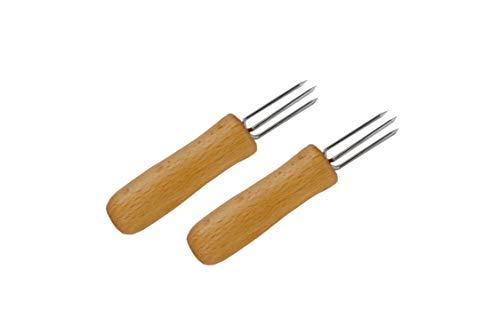 * 2er Set Pellkartoffel-Spießer mit Holzgriff   Spießchen Sticks Picker  
