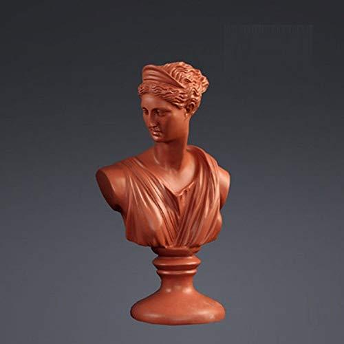 FENGJIAREN Estatuas,Estatuillas,Esculturas,Rojo Ladrillo Afrodita Figura Arte Escultura Busto Estatuas De La Diosa Venus Arte Artesanía Resina Accesorios para La Decoración del Hogar Salón Colección
