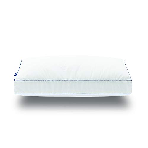EMMA Cloud Kissen 80x40 - weiches Flauschiges Mikrofaserkissen für alle Schlafpositionen - 2 in 1 individuell anpassbare Höhe - waschbar - ergonomisch - kein Verklumpen