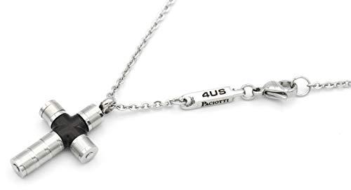 4US - Collar con cruz Jewels by Cesare Paciotti de acero con cruz tubular 4UCL1563