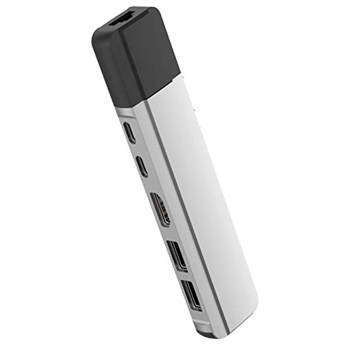 MAGFUN Concentrador USB C con Gigabit Ethernet Rj45 100M / 1000M Base USB-C Puerto de Datos PD Hub 3.0 TF para Pro/Air 2020