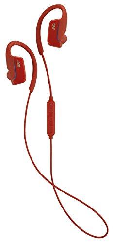 JVC HAEC30BTR Ae - Auriculares inalámbricos con Clip para Deportes, Color Rojo