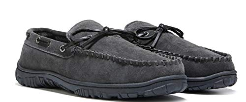 Clarks Men Mocassin Slippers Loafers Grey Size 9