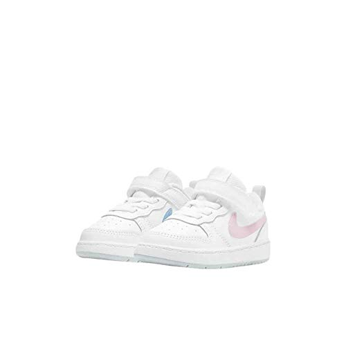 Nike Court Borough Low 2 MWH (TDV), Zapatillas de bsquetbol Niñas, White Arctic Punch Lt Armory Blue Pure Platinum, 23.5 EU