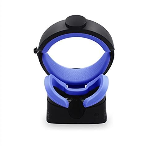 HGLNBN 3 en 1 VR Cubiertas de Silicona de Espuma de Frente y fretroar for Oculus Rift S VR Gafas Máscara de Ojos Cubierta de Cara Accesorios (Color : Blue)