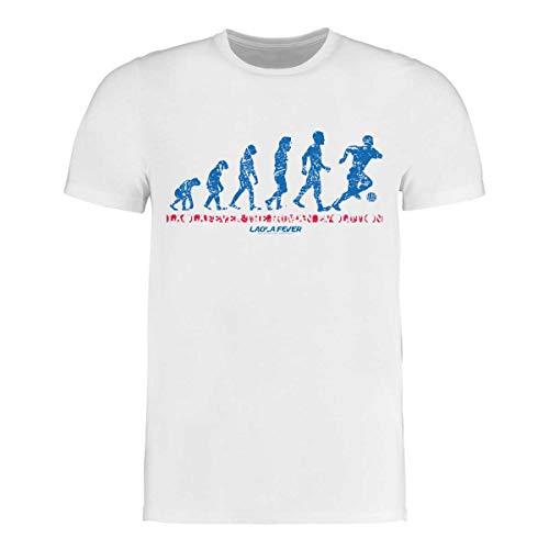 LAOLAFEVER® Fußball T-Shirt Human Evolution I Größen S - 3XL I A BRAYCE® Collaboration (Fan Trikot mal Anders) (M)