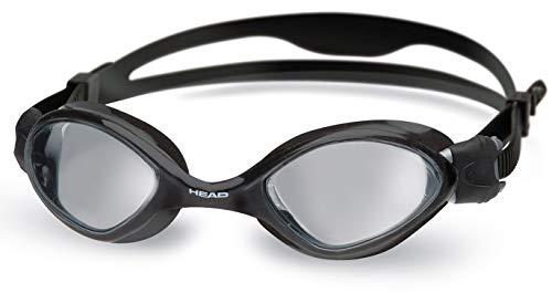 HEAD Erwachsene Schwimmbrille Tiger Mid, Black-Smoke, One Size