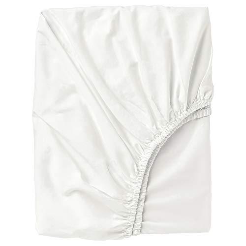 ULLVIDE - Sábana bajera ajustable (180 x 200 cm), color blanco