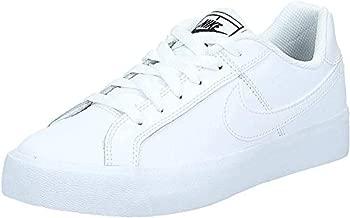 Nike Women's Court Royale AC Sneaker, White/White-Black, 8.5 Regular US