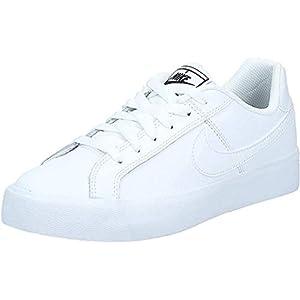 Nike Women's Court Royale AC Sneaker, White/White-Black, 7 Regular US