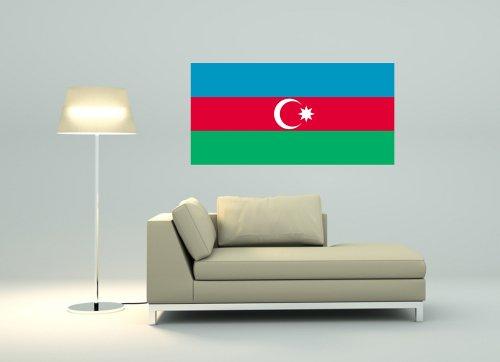 Kiwistar Wandtattoo Sticker Fahne Flagge Aufkleber Aserbaidschan 80 x 40cm