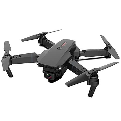 FKZX Drone GPS con videocamera HD Video in Diretta per Adulti Quadcopter Selfie Portatile con 2 batterie per Principianti con Ritorno Automatico a casa Percorso di Volo p Black