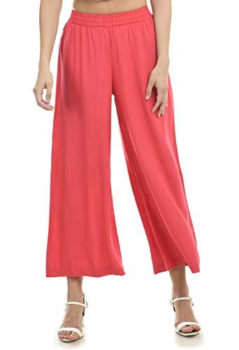 Lagi Women Plazo Plazzo Bottom Wear Ethnic Palazzo Pants Trousers with Kurti Kurtis Kurta S, Peach (PLZ03C)