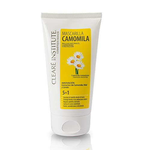 Cleare Institute Camomila mask | Nourishes, conditions and detangles | Dorados reflexes and Lightness | 95% Natural Ingredients | Calm Scalp { 150 ml}
