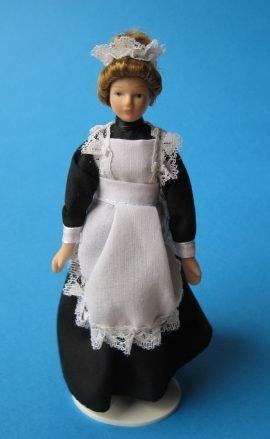 CREAL SàRL Frau Marie Bedienung Magd Puppe für die Puppenstube Miniatur 1:12