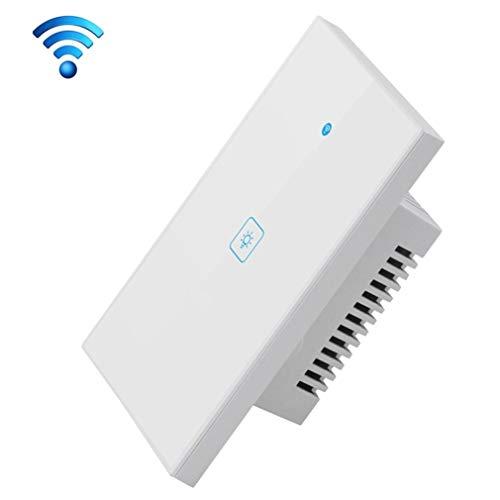 QAIYXM WiFi Smart Light Switch, Ewelink App & Touch Control 2A 1 Interruttore 1 Way Vetro temperato Smart Panel Parete, Installazione di CA 90V-250V Facile in-Parete