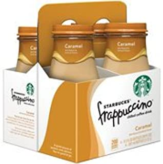 Starbucks Frappuccino Caramel Chilled Coffee Drink, 9.5 fl oz, 4 count(Case of 2)