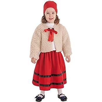 Creaciones Llopis Disfraz de Pastora con Abrigo para niña: Amazon ...