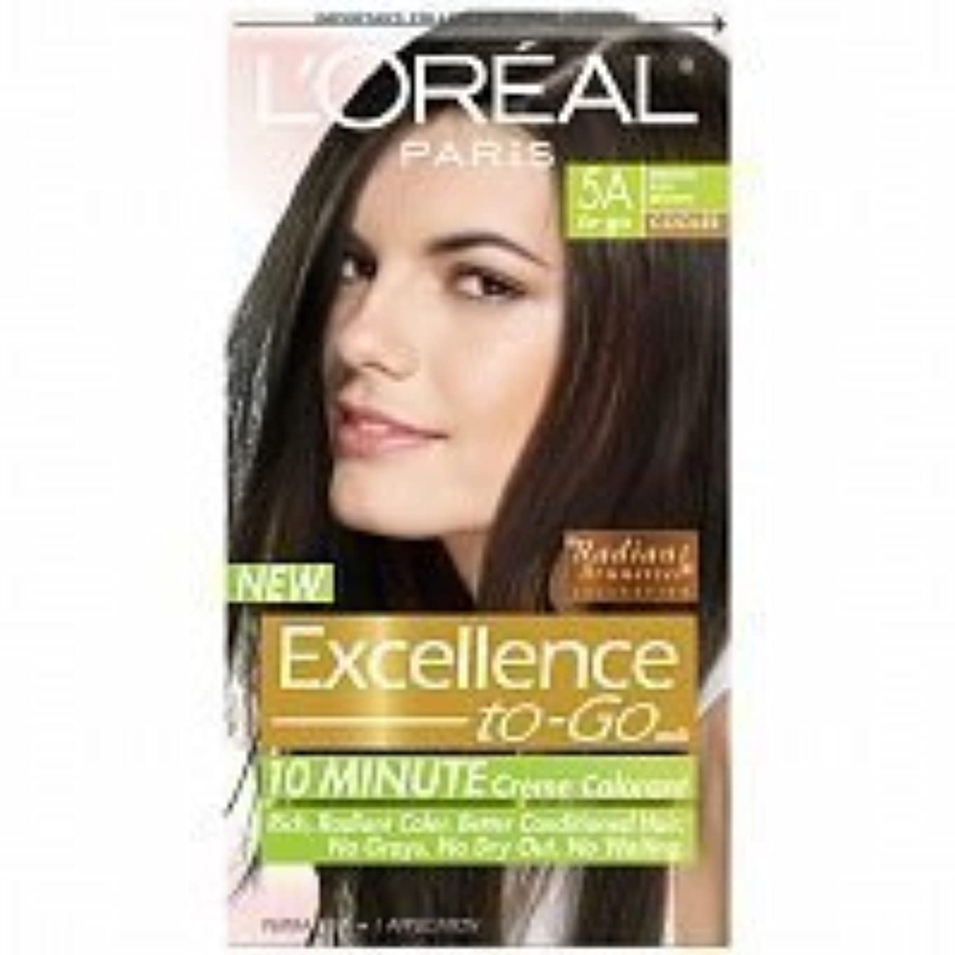 アドバンテージ騒乱そしてL'Oreal Paris Excellence To-Go 10-Minute Cr?N?Nme Coloring, Medium Ash Brown 5A by L'Oreal Paris Hair Color [並行輸入品]