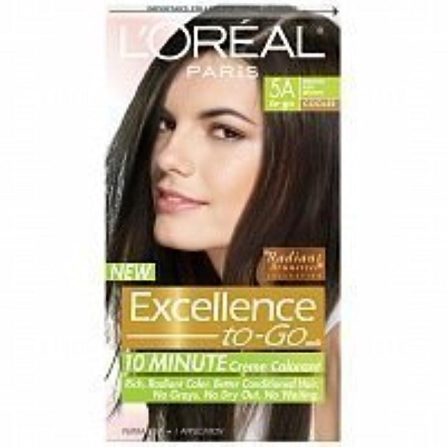 甘美なトリップ蛾L'Oreal Paris Excellence To-Go 10-Minute Cr?N?Nme Coloring, Medium Ash Brown 5A by L'Oreal Paris Hair Color [並行輸入品]
