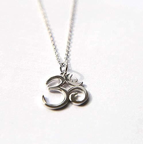 ZPPYMXGZ Co.,ltd Necklace Fashion Pendant Necklace 925 Silver Symbol of India Om Oh Yoga
