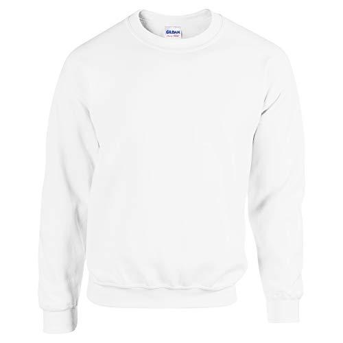 Gildan Herren Sweatshirt, Weiß, L