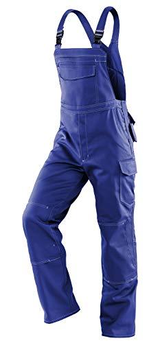 KÜBLER Workwear KÜBLER SPECIFIQ Arbeitslatzhose blau, Größe 50, Herren-Arbeitslatzhose aus verstärkter Baumwolle, robuste Arbeitslatzhose