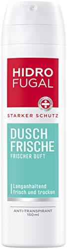 Hidrofugal Dusch-Frische Spray (150 ml), starker Anti-Transpirant Schutz mit angenehm frischem Duft, Deo Spray für starken Schutz ohne Ethylalkohol