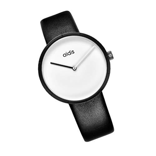 Baluue su par de Ella Reloj Conjunto de Regalo Amantes Románticos Boda Reloj para Hombre Mujer Relojes de Pulsera Correa de Cuero Blanco
