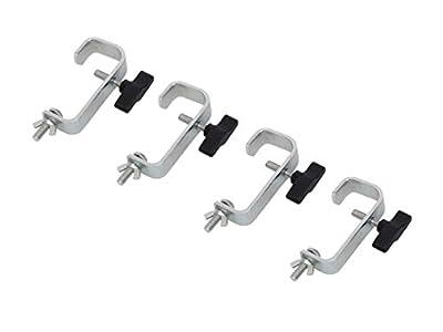 4 x 50mm Hook Clamp Strong Metal Lighting Bar G Clamp