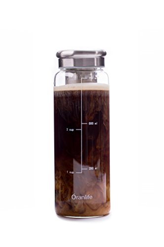 Cold Brew Coffee Maker, Portable Iced Coffee Maker with Airtight Lid and Easy To Clean Reusable...