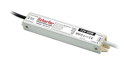 Fuente de alimentación LED de 12 V, resistente a salpicaduras, IP67 (30 W)