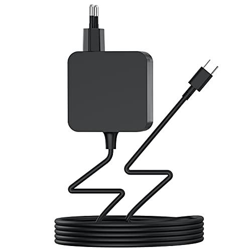 Type C Ladegerät 65W USB C Netzteil, AC Adapter für Lenovo ThinkPad/Yoga,MacBook Pro/Air,i-Pad Pro,ASUS,Acer,HP Spectre,Dell,Huawei Matebook,Xiaomi Air,Samsung,Google,Switch Laptop Typ C PD Netzteil