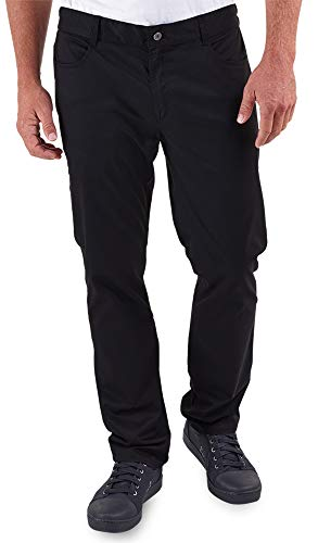 Men's Stretch Jean Style Chef Pant (XS-3X, Black) (Large)