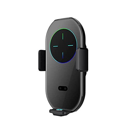 Tenedor de teléfono inteligente, carga inalámbrica, rotación de 360 °, se puede utilizar para ventilaciones de aire acondicionado de automóviles, consola del centro de adsorción ( Color : Black )