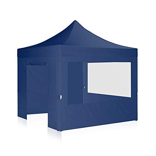 Carpa plegable 3 x 3 m – Incluye 4 paredes laterales selección de colores techo y paredes azules 534C