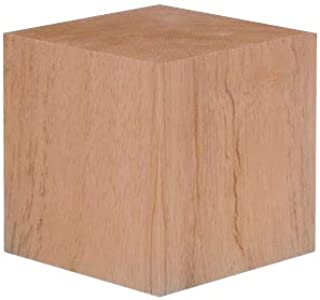 4 Inch Solid Wood Block Cube - 1 Block