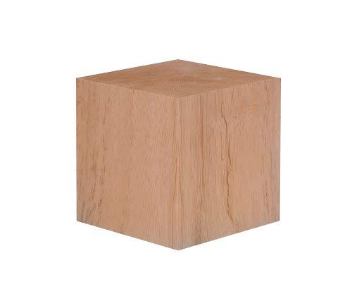 4 Inch Solid Wood Block Cube - 1 Block