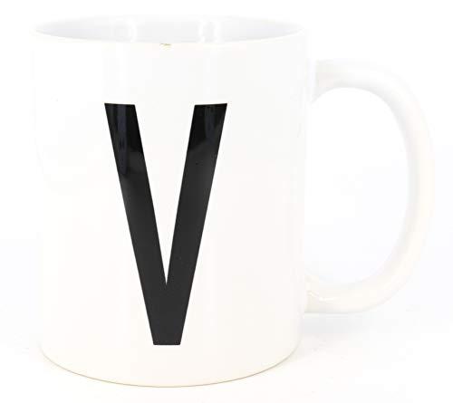 PICSonPAPER Buchstaben-Tasse V Tasse mit Buchstaben, Alphabet als Kaffeetasse Buchstabentasse (Buchstabe V)