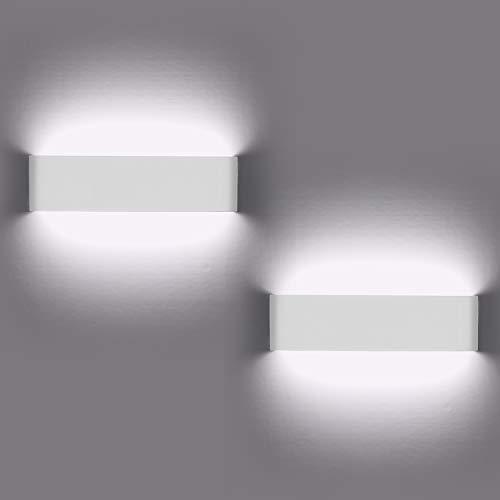 Lampade da parete per interni, 2 pezzi Applique da parete 12W LED Luci su e giù Lampada da parete moderna per soggiorno Balcone Portico per scale, Luce bianca fredda