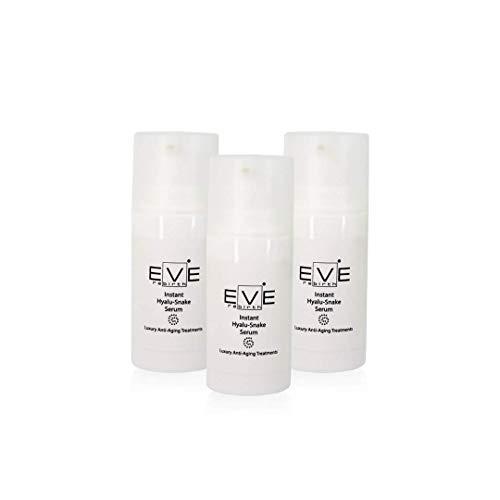 EVE REBIRTH Instant Hyalu-Snake Sérum Anti-Rides Effet Lifting Visage/Contour des Yeux (Set de 3), 15 ml