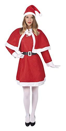 P'tit Clown - 12054 - Costume Adulte Mère Noël - Feutrine - Taille Unique