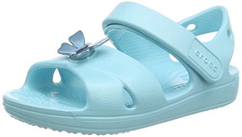 Crocs Classic Cross Strap Sandal Kids, Sandalia con Pulsera Niñas, Azul (Ice Blue 4O9), 24/25 EU