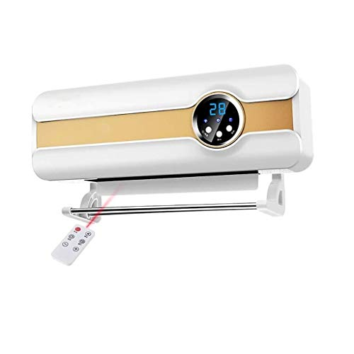 Silence ventilatorkachel voor badkamer, wandmontage, afstandsbediening, convectieventilator, ventilatorkachel met rode, intelligent digitaal display, timing 8 uur, mini-schommel