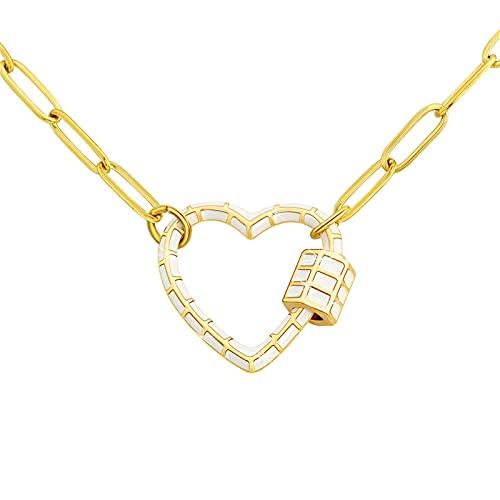 YNING Collar de Aleación de Amor para Mujer/Longitud de Cadena Ajustable/Regalos Adecuados para Niñas, Novias, Damas, Esposas, Niños, Novios, Hombres, Maridos