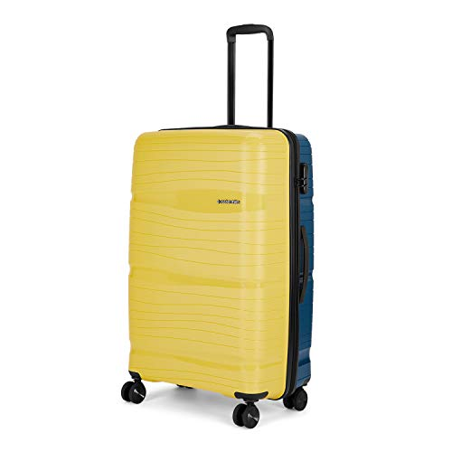 Nasher Miles Nicobar Hard-Sided Dual Tone Polypropylene Check-in Luggage Yellow and Navy Blue 28 inch  75cm Trolley Bag