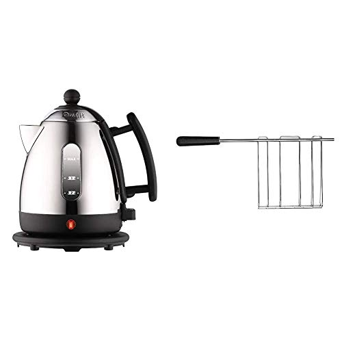 Dualit Lite Kettle | 1 L 2 kW Jug Kettle | Polished with Black Trim, High Gloss Finish | Fast Boiling Kettle by Dualit | 72200 & Sandwich Cage for Classic Dualit Toasters 499