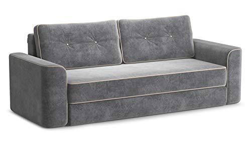 Sofos Cama de tela Valencia, color gris